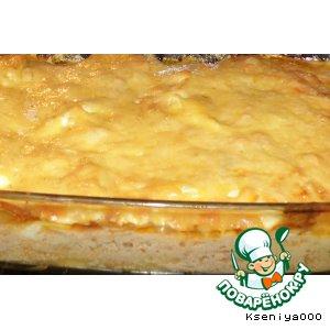 Овощи под сметанно-сырной шубой