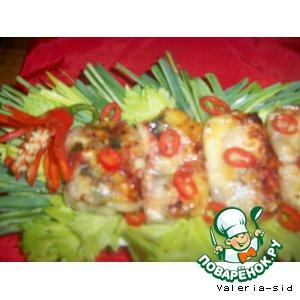 """Рисовые блинчики """"рыба-мясо"""""""