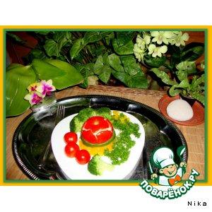 Яичница  в  помидорах  и  болгарском  перце