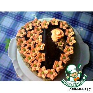 """Торт """"Шоколадная полянка"""""""