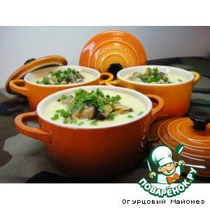 Суп из цветной капусты с мидиями «Кустракиты»