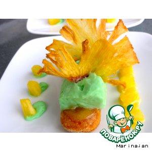 """Десерт """"Дамские пальчики"""" с фруктовым муссом"""