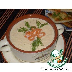 Суп-крем из лосося