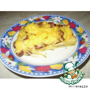 Кукурузный пирог с фасолью