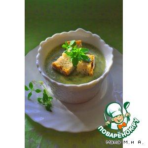 Крем-суп из кольраби с зеленью