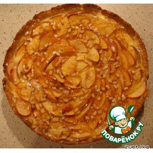 """Пирог яблочный с кедровыми орешками """"Ароматный"""""""