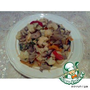 Рагу овощное с грибами из духовки