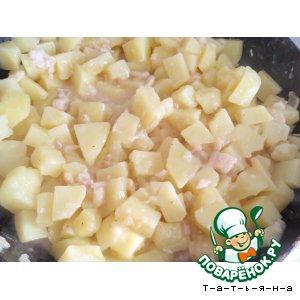 Картофель в пиве с корейкой