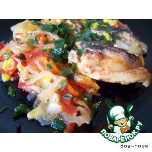 """Куриное филе с овощами """"Яркий мир"""""""