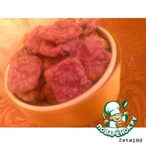 Фиолетовое печенье