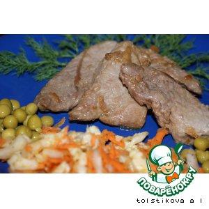 Свинина в соевом соусе с имбирем