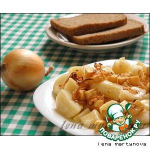 Отварной картофель с фальшивыми шкварками