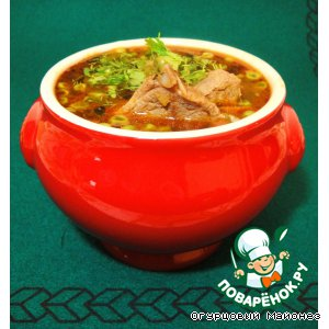 """Ирландский суп из баранины с зелeным горошком """"Drunken Sailor"""""""