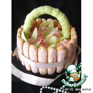 "Праздничный торт ""Корзинка роз для ""Поваренка"""""