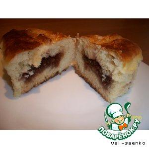 Пироги с малиновым вареньем