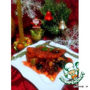"""Куриное филе под пикантным соусом """"Новогодний маскарад"""""""
