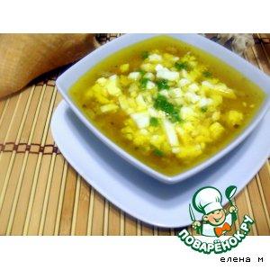 Рыбный суп с яйцом