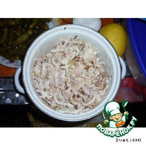 Салатик из кальмарчиков
