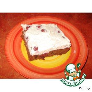 Шоколадно-вишнeвый торт с корицей