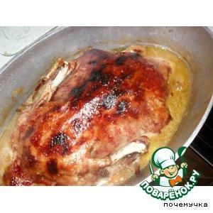 Рождественская утка в вишнево-винном соусе