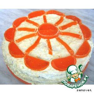"""Торт с творожным кремом """"Солнечный круг"""""""