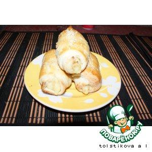 Слоеные пирожки с картошкой и жареным луком