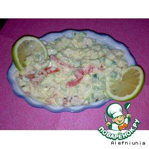 Салат с картофелем и кабачком цуккини
