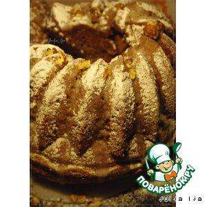 Имбирно-медовый кекс с грецкими орехами