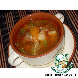 Суп из говядины с курагой