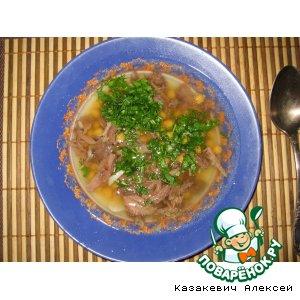 Суп из говяжьего хвоста с горохом нут