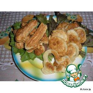 Крабовые палочки и картофель в кляре