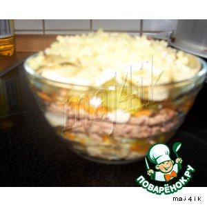 Маленький слоeный салатик
