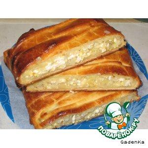 Пирог с капустно-сырной начинкой