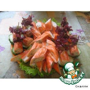 Крабовые палочки с муссом из красной рыбы