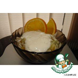 Салат из капусты и апельсина