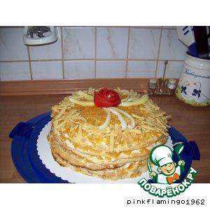 Кабачково-яичный торт закусочный