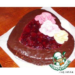 """Тортик """"Желейное сердечко"""""""