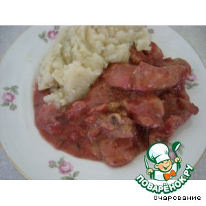 Грудка куриная в сливовом соусе