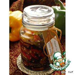 Сладкий перец в соевом соусе с имбирeм и мeдом