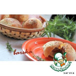 Творожные булочки с финиками в беконе