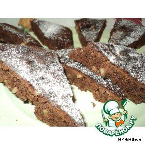"""Быстрые шоколадные пирожные """"Ореховое наслаждение"""""""