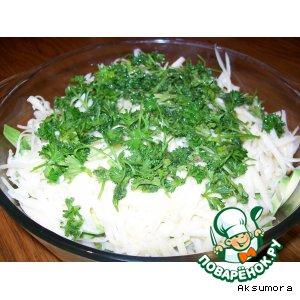 """Салат овощной с авокадо """"Взрыв"""""""