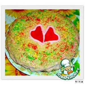 """Торт """"Два сердца"""""""