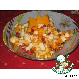 Салат из тыквы с мeдом