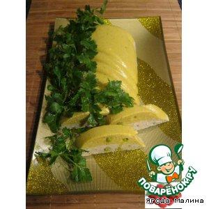 Куриный террин с зеленым горошком