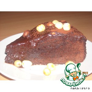 Шведское шоколадное пирожное с кофейной глазурью