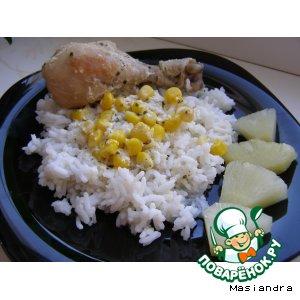 Курица с кукурузой в сметанном соусе