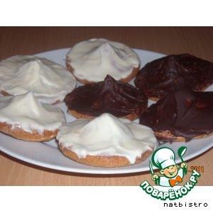 Марципановое печенье с шоколадной начинкой