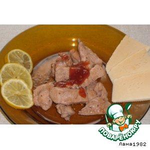 Куриные грудки в клюквенно-медовом соусе