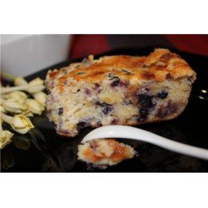 Творожно-сырный пирог с черникой
